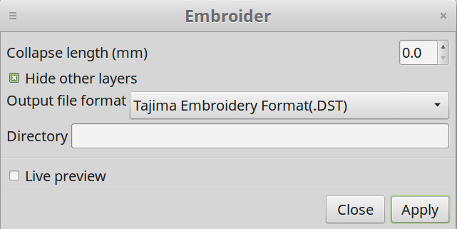 Import and Export Files - Ink/Stitch