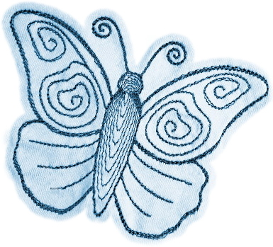 Running Stitch Butterfly